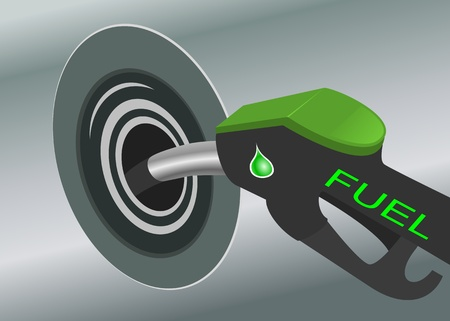 filling station: Pumping fuel in to the tank