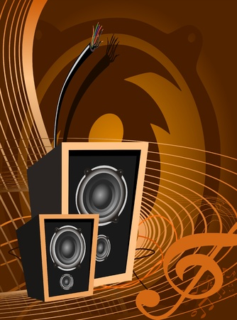sound system: Abstract vector music design