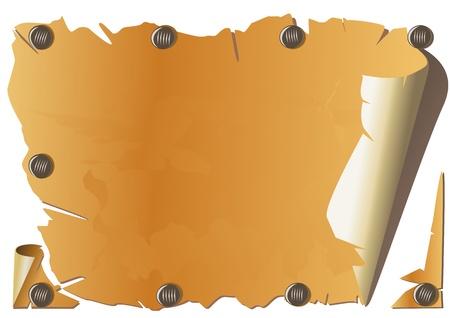 burnt paper: Old paper. Vector Illustration