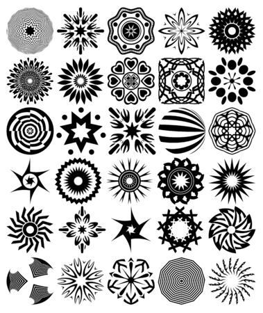 30 vector abstract symbols