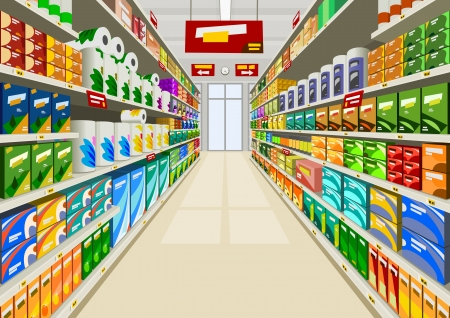 Supermarket Stock Vector - 10999392