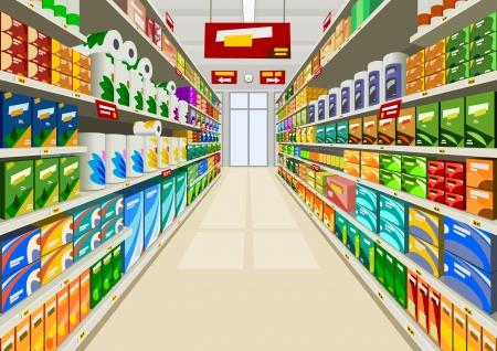 Supermarkt Vector Illustratie