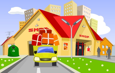 flower market: Shop Illustration