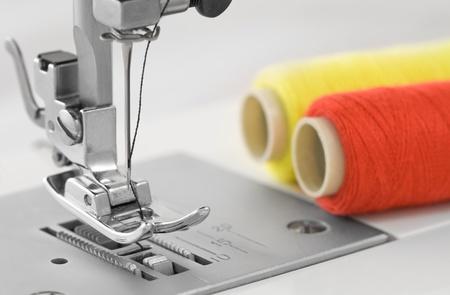 sewing machine, detail photo