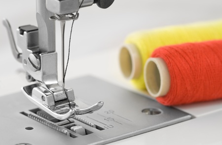 textile machine: sewing machine, detail
