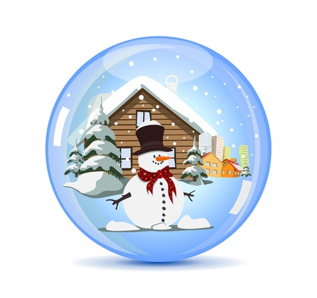 Christmas Crystal Ball Stock Vector - 11380533