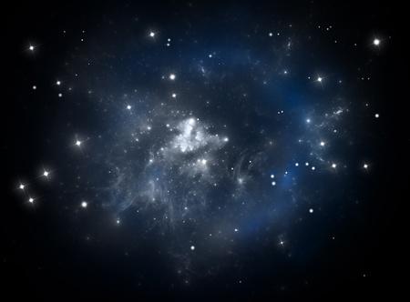 Colorful space star nebula photo