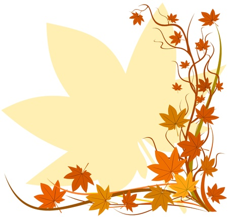Fall background, autumn leaf Stock Vector - 11380621