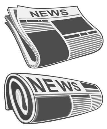 icone news: Journal roul� Illustration