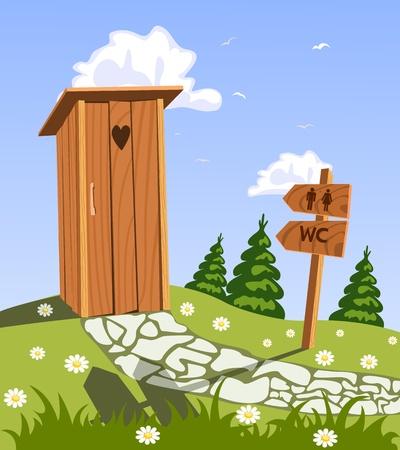 latrina: WC in natura Vettoriali