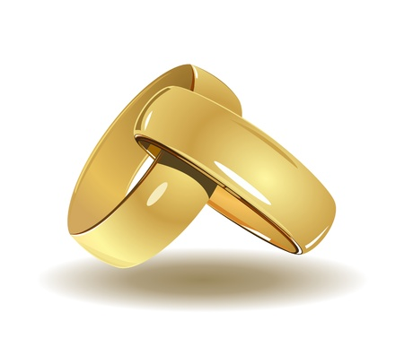 wedding ring: Los anillos de boda Vectores