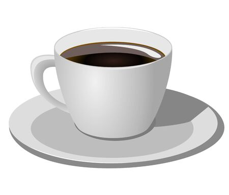 strew: Coffee cup on white background, Vector illustration Illustration