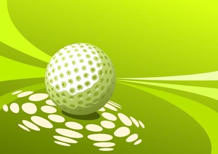 golf equipment: Golf design Illustration