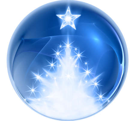 Blue abstract christmas ball photo