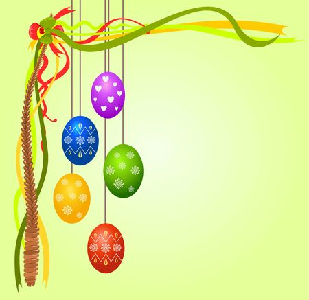 celebrate life: Colorful easter eggs, vector illustration