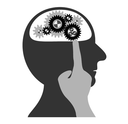 Gears working in the head Vector