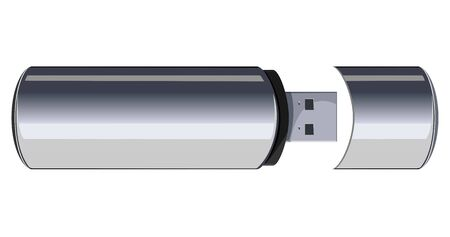 usb disk: Usb flash memory isolated on the white background