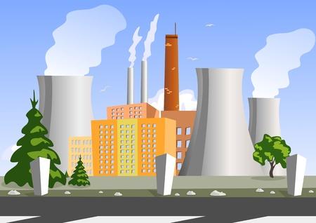 Illustration vectorielle usine, Illustration