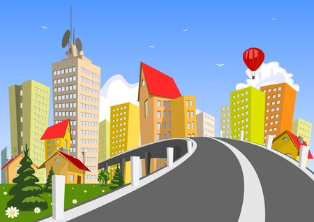 Colorful abstract city. art Vector