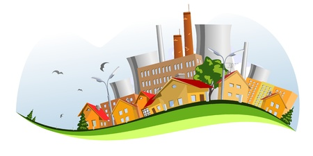 industrial complex: Factory, illustration