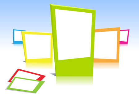 Colorful photo frames in art Vector