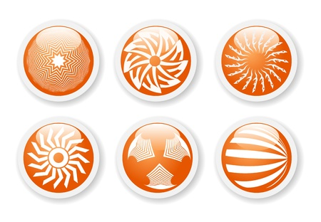 Orange abstract symbols Illustration