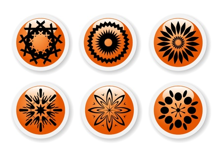 Orange abstract symbols Stock Vector - 12722419