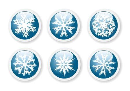 Christmas snowflake stickers  Vector
