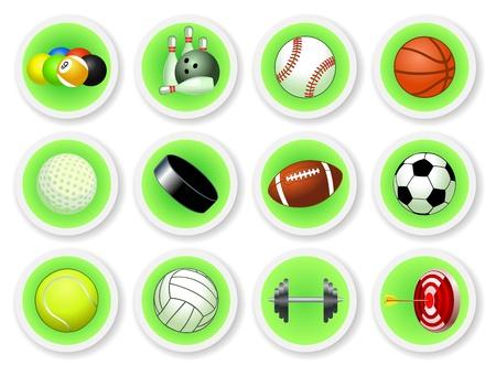 Sport balls icon set, vector illustration Vector