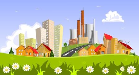 industrial landscape: Fabbrica in citt�. Concetti astratti