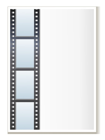 Blank photo - video template, illustration Stock Vector - 12962656