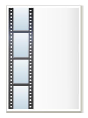 blank photo: Blank photo - video template, illustration Illustration