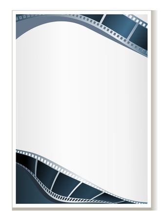 Blank photo - video template, illustration Illustration