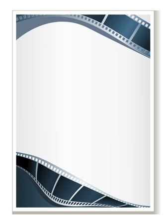 Blank photo - video template, illustration Illustration
