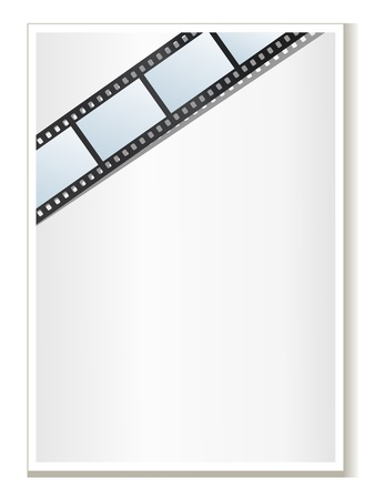 Blank photo - video template, illustration Stock Vector - 12962655