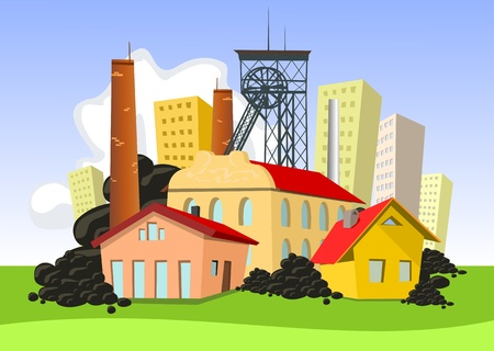 Mining town Vector