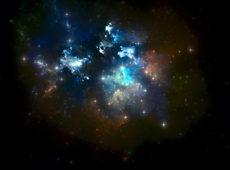 Colorful space star nebula Stock Photo