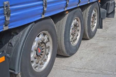 Cargo truck. Detail Stock Photo - 13339405