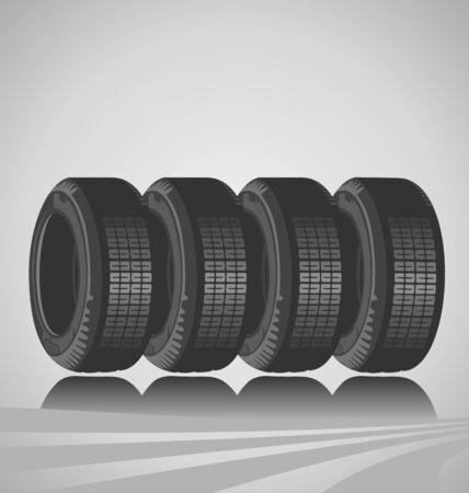 Car tires design Stock Vector - 13955194
