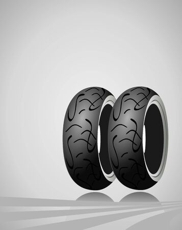 Vector motorcycle tire on a gray background Stock Vector - 14075025