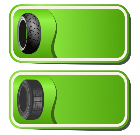 Sticker with the tires Vector