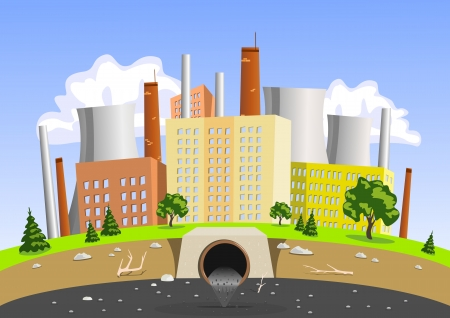 water pollution: Factory air and water pollution