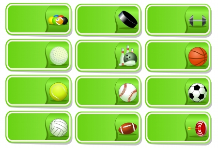 Sport balls icon set illustration Vector