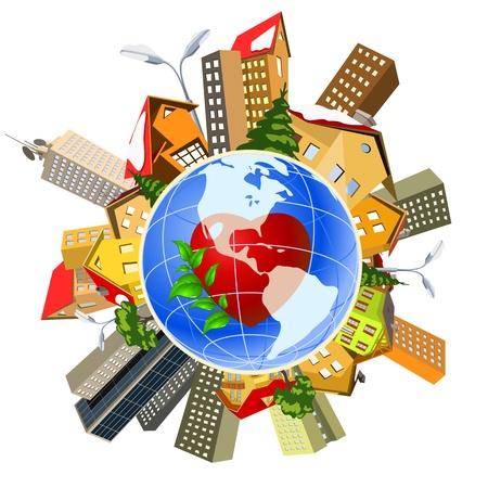 bussines: Aarde perfect nauwkeurige machine. Wereldbevolking, menselijke invloed