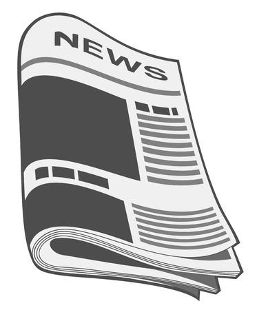 artikelen: Krant vector. Illustratie Stock Illustratie