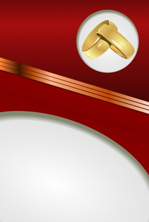 Red Wedding card Vector