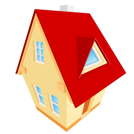 abstract illustration of house  Vector