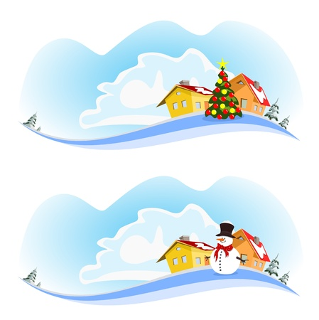 city winter Stock Vector - 15659353