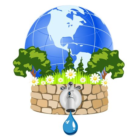 Pure natural water Stock Vector - 16235654