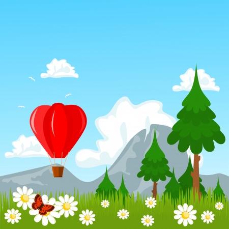Air balloon nature theme Stock Vector - 16471562